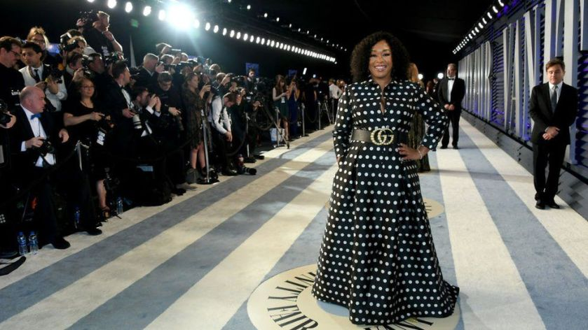 Producer Shonda Rhimes attending the 2019 Vanity Fair Oscar Party