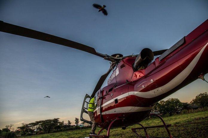 Hélicoptère au sol