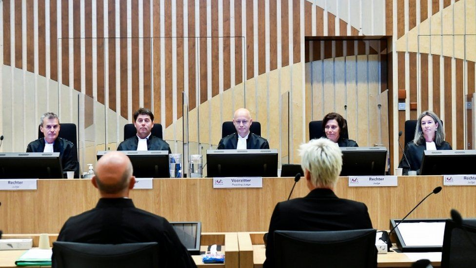 Judges preside over the MH17 trial in the Netherlands