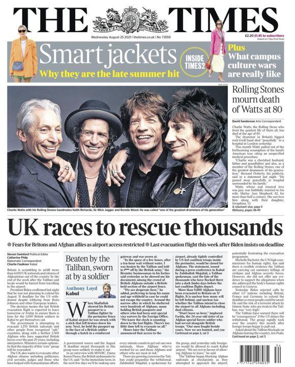 Times - 25/08/21