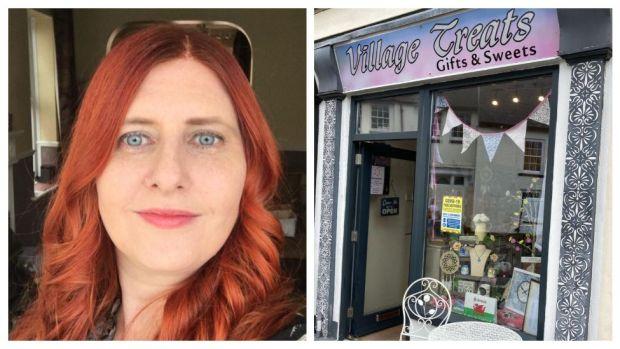 Leeann Davies and her sweet shop Village Treats