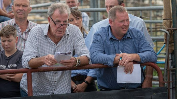 Jeremy Clarkson at a sheep auction