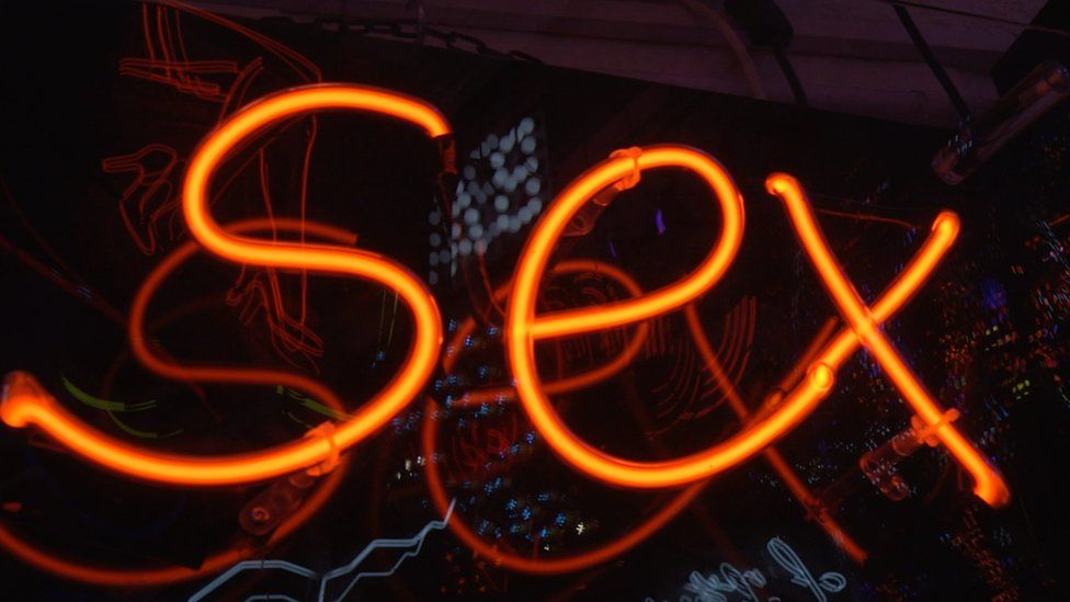neon sign saying 'sex'