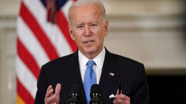 President Joe Biden speaks about the administration's response to the coronavirus pandemic at the White House in Washington