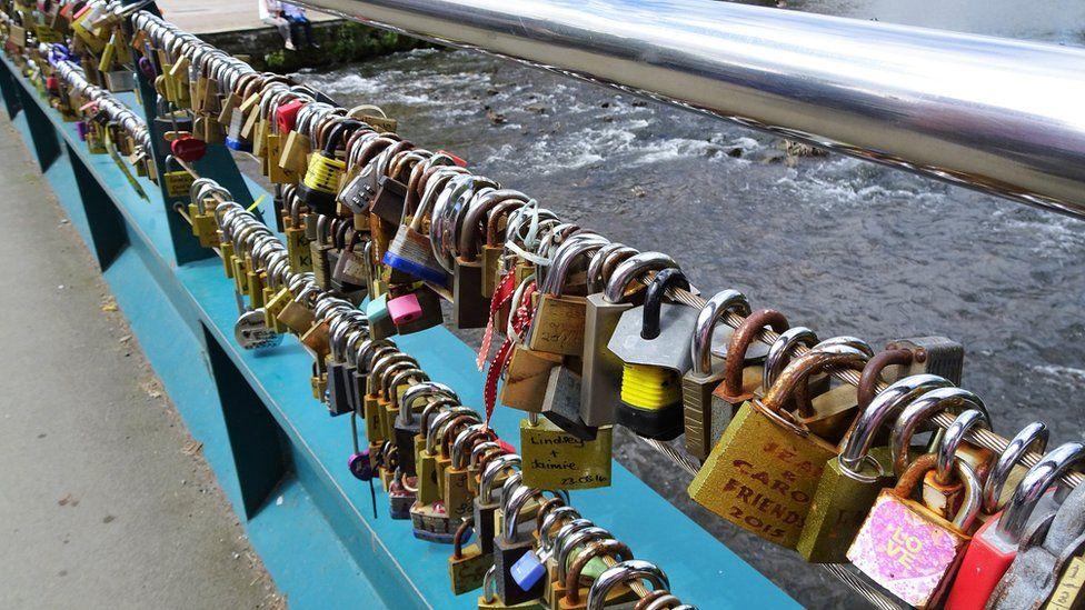 Love locks in Bakewell