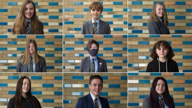 The nine children interviewed by the BBC