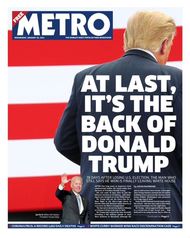 Metro front page 20/01/21
