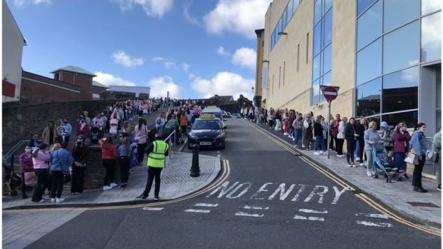 Queues of hundreds of shoppers outside Primark in Londonderry