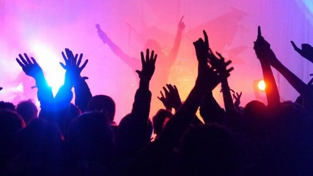 Stock image of people clubbing