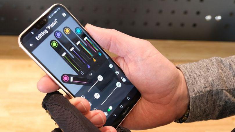 Bioservo's Iron Hand app