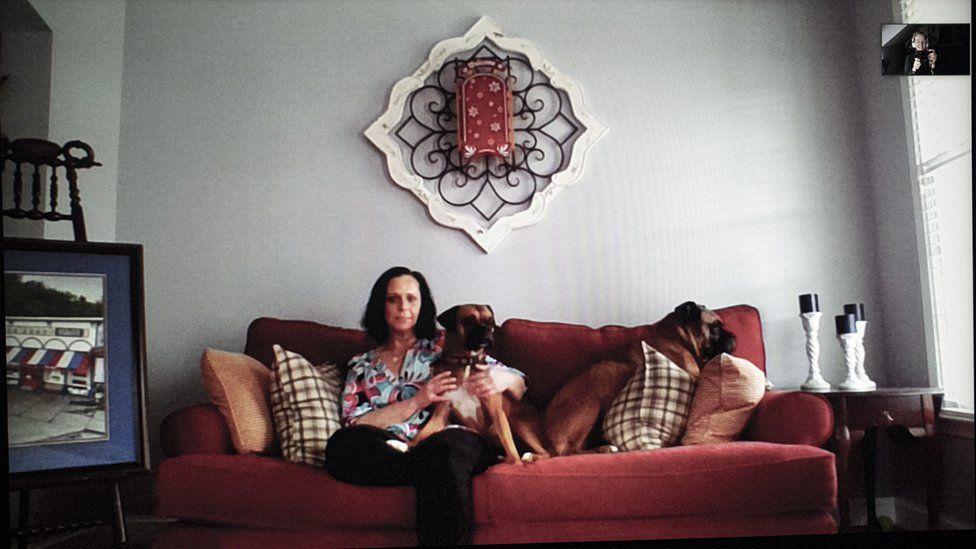 Maureen in her home