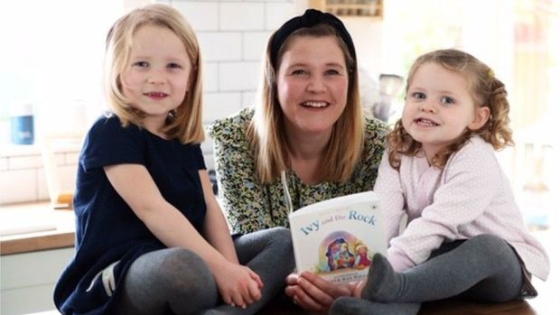 Jess Childs and her two children