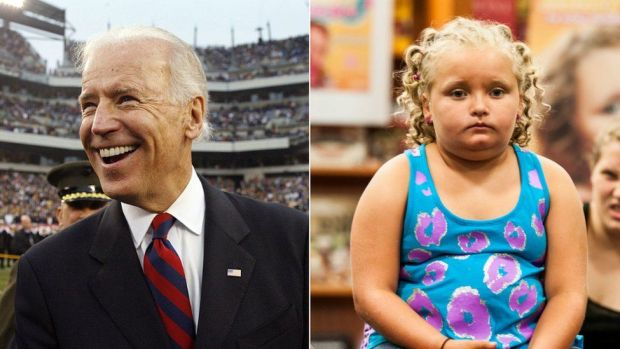"Joe Biden and Alana ""Honey Boo Boo"" Thompson in 2013"