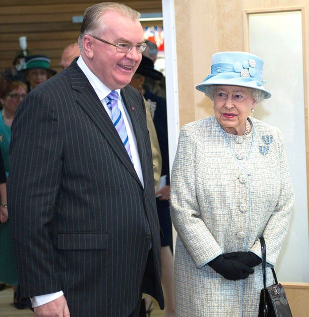Jeff Edwards MBE accompanied the Queen during her fourth visit to Aberfan as part of her Diamond Jubilee tour of Wales