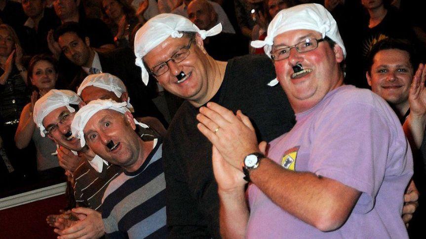 Audience members dressed as Mr Gumby in 2009