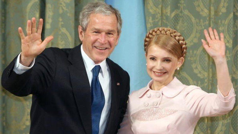 Президент США Джордж Буш молодший завітав до Києва напередодні історичного саміту НАТО у Бухаресті у квітні 2008