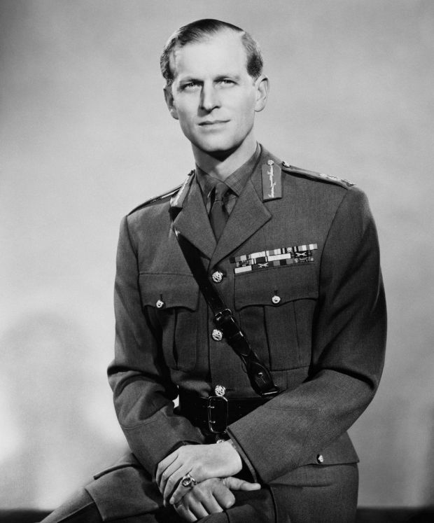 The Duke of Edinburgh in his uniform as a Field Marshall in the British Army