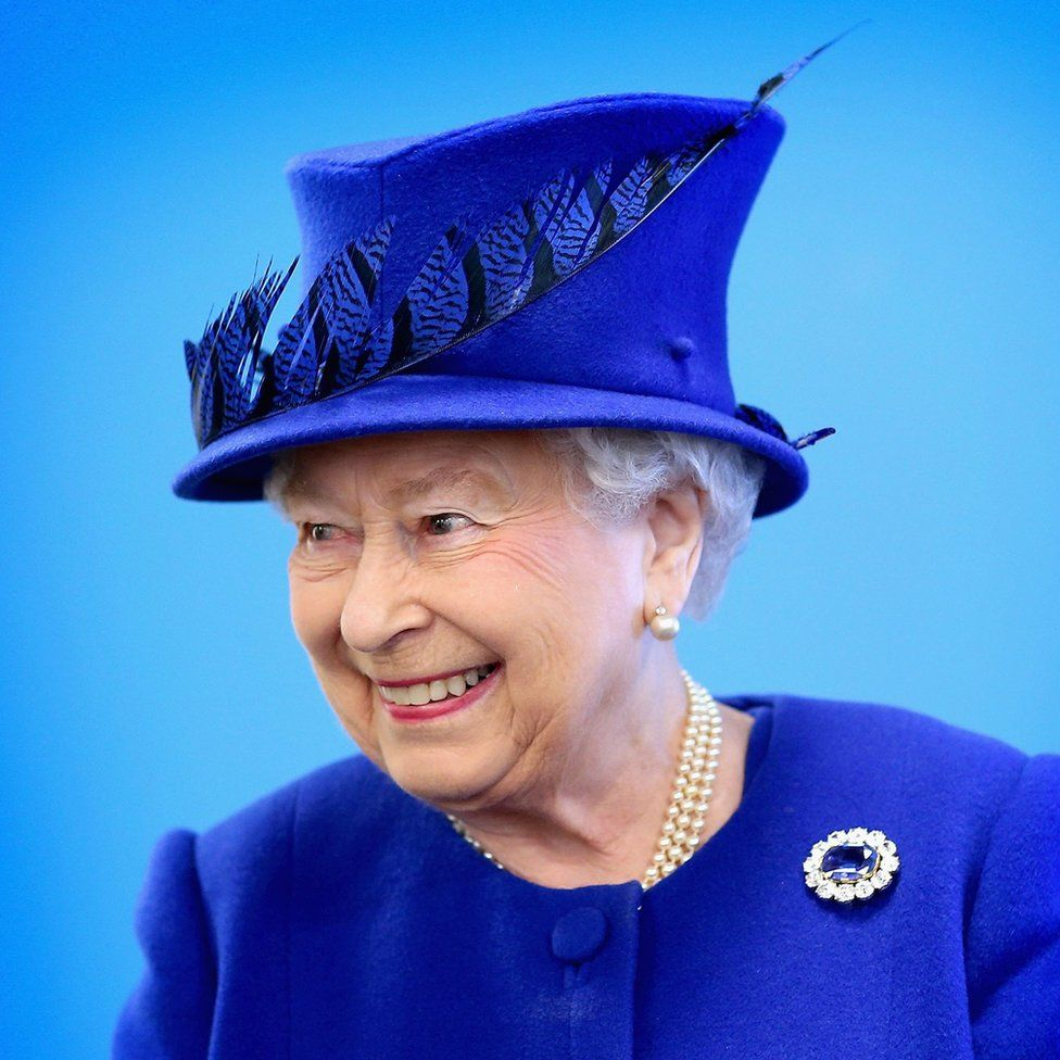 Queen Elizabeth II during a visit to the Prince's Trust Centre in Kennington, London