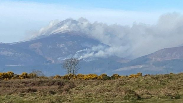 Smoke over the Mournes