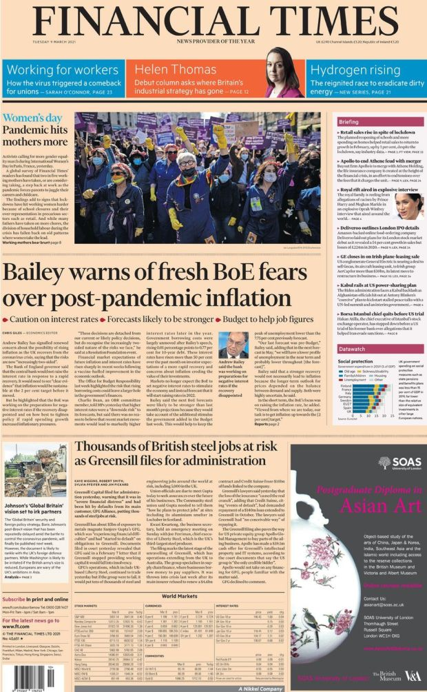 The Financial Times 9 March