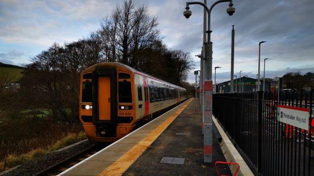 A train at Bow Street