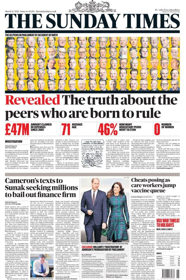 The Sunday Times 21 March