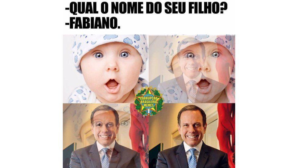 Meme relacionando o prefeito de São Paulo, João Doria, ao socalismo fabiano