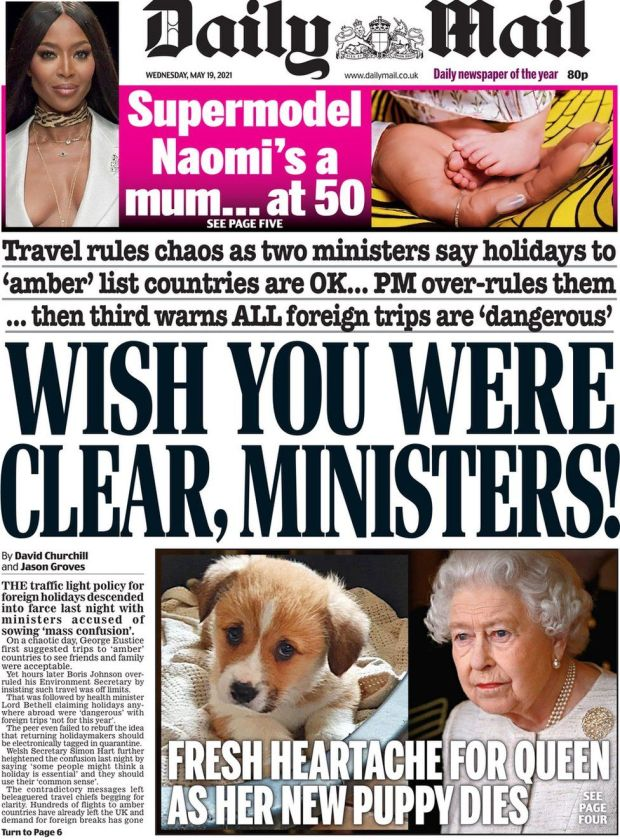 The Daily Mail 19 May