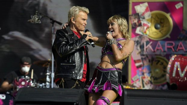Miley Cyrus and Billy Idol