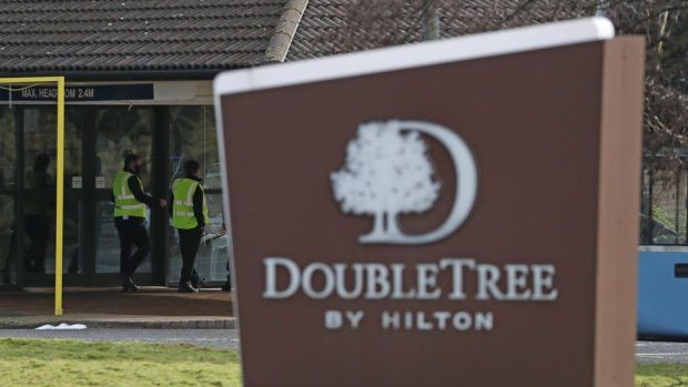 The DoubleTree by Hilton Hotel Edinburgh Airport which is being used to quarantine passengers