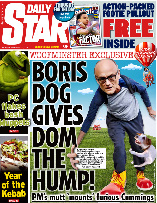 The Daily Star front page 22 February 2021