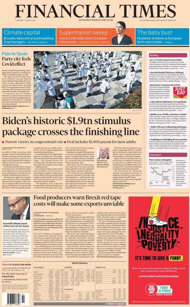 The Financial Times 11 March