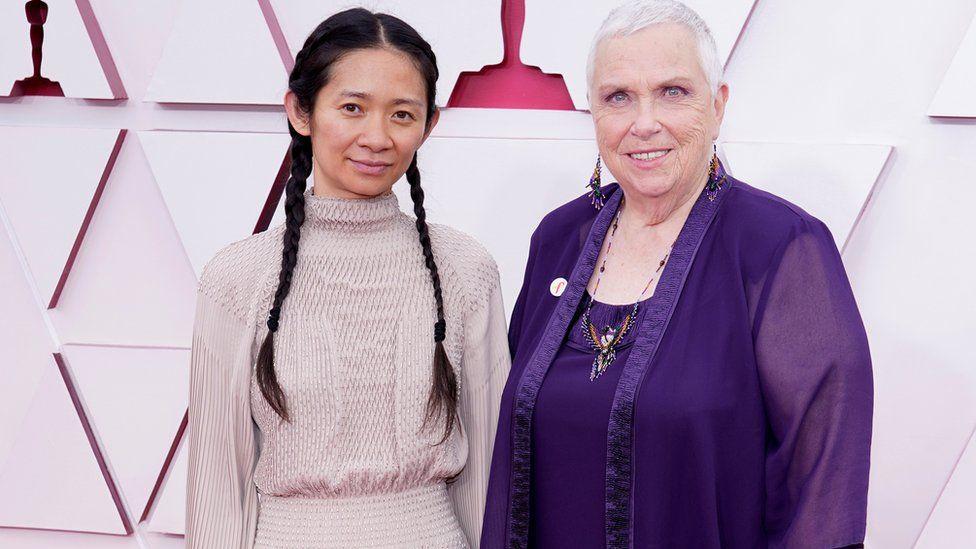 Chloe Zhao and Charlene Swankie