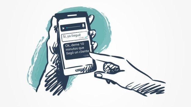 Ilustración de un celular.