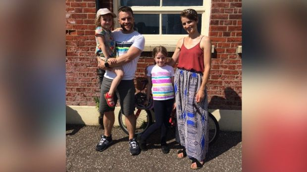 Hannah, pictured with husband Kelvin and their daughters Mollie and Nell