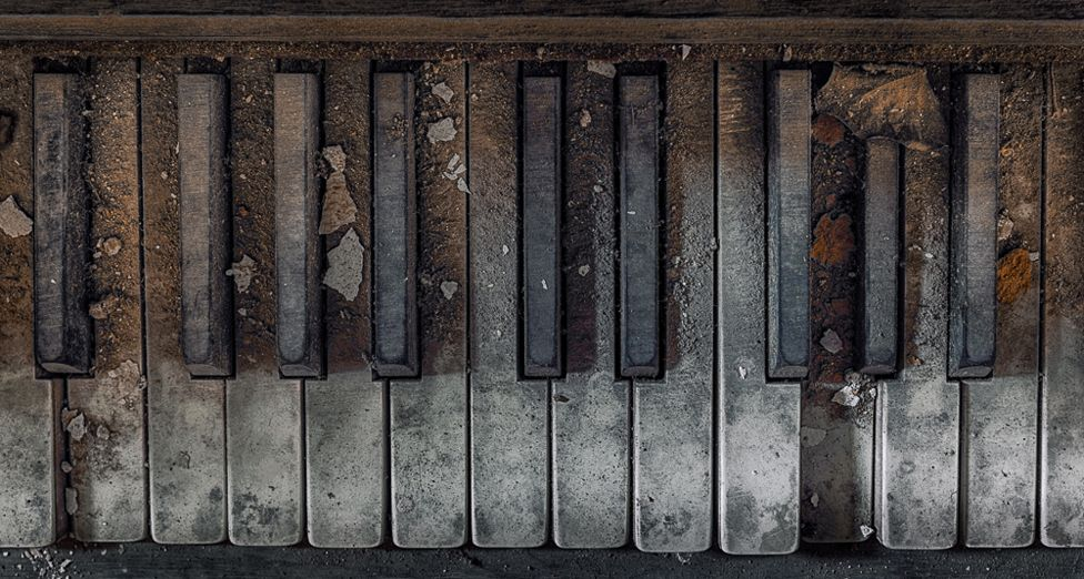 Dusty piano keys