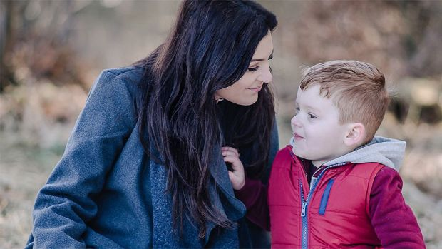 Kelly and her son Finnley