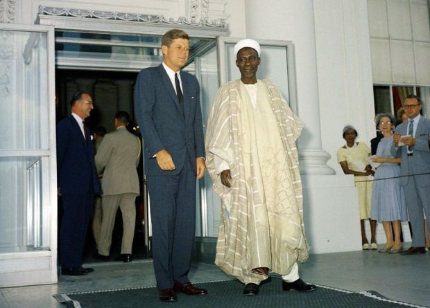 President Kennedy with Nigeria's prime minister