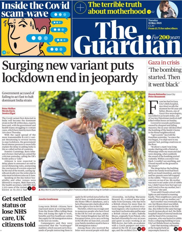The Guardian 18 May