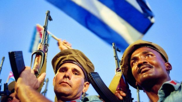 Cubans in the island celebrate the victory at the Bay of Pigs,
