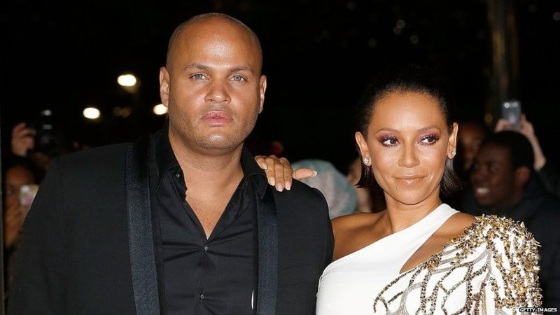 Mel B with Stephen Belafonte