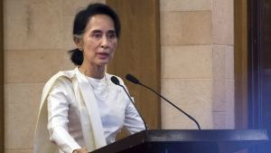 Myanmar's State Counselor Aung San Suu Kyi