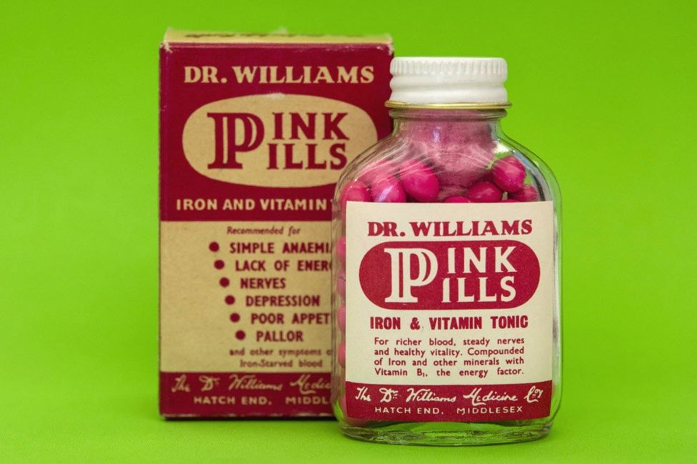 Dr William's pink pills, late 19th century