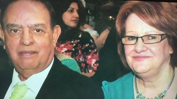 Dr Karamat Ullah Mirza and his wife Estelle