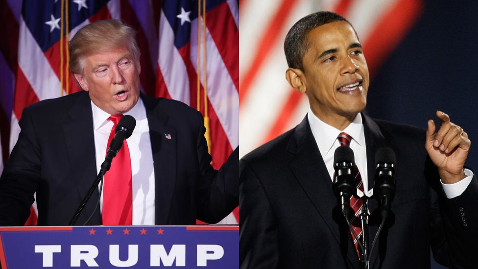 Image result for images of Obama vs Trump