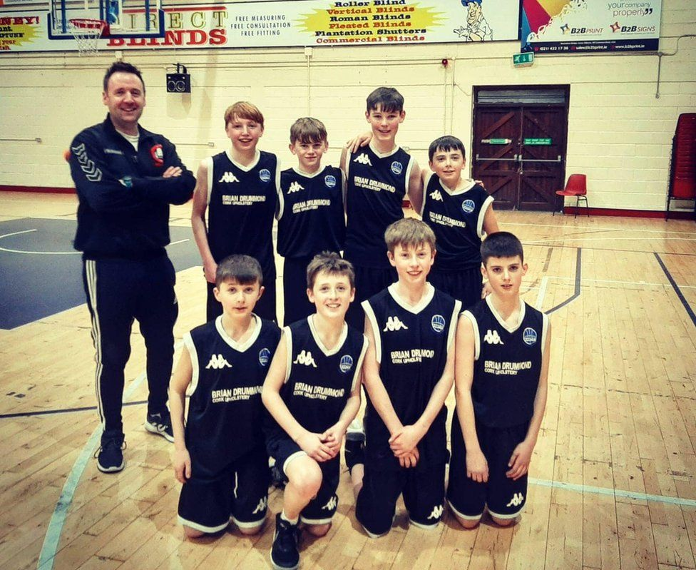 The Bantry under-15 basketball team