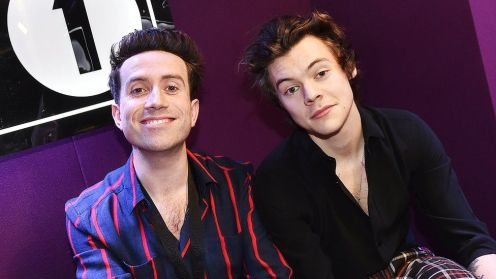 Nick Grimshaw and Harry Styles