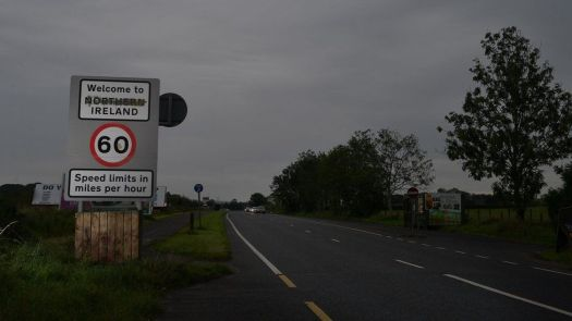 Border road County Londonderry in September 2020