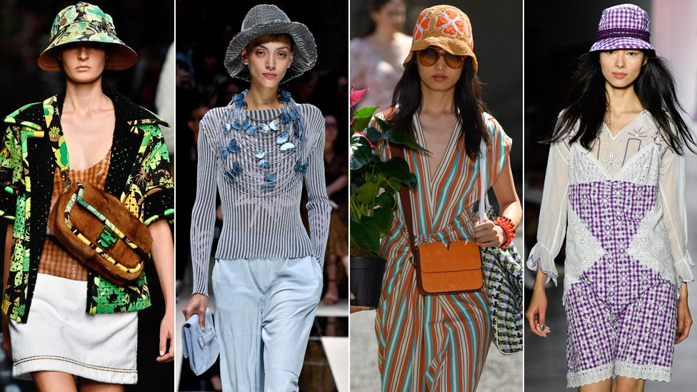 Bucket hats by Fendi, Giorgio Armani, Kate Spade, Anna Sui