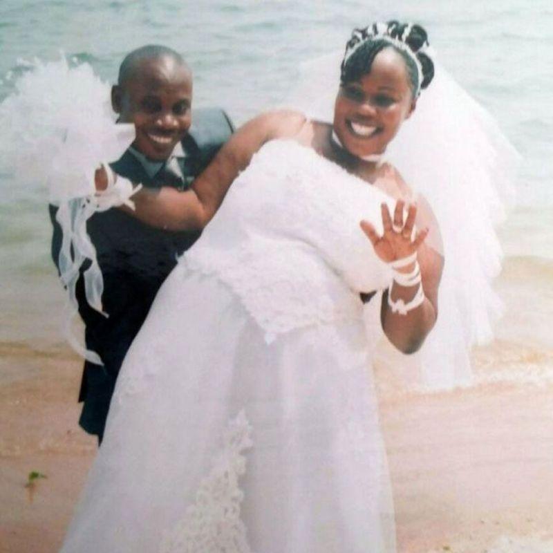 A wedding photo (Balenga Kalala and Noela Rukundo)